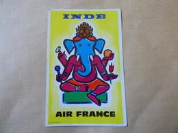 AIRLINE ISSUE / CARTE COMPAGNIE          AIR FRANCE    RESEAU INDE - 1946-....: Modern Era