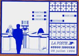 X63146 ISSOIRE (63) Inauguration De La Nouvelle POSTE Illustateur Christian CHABERT- UPPTT Auvergne AGGELOS POUZOL - Issoire
