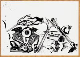 X63151 CUNLHAT 4em Rassemblement HARLEY-DAVIDSON 21-23 Août 1992 Illustration Christian CHABERT-  AGGELOS POUZOL - Cunlhat