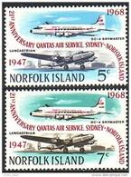 692 Norfolk Avions Airplanes MNH ** Neuf SC (NRF-15b) - Norfolk Island