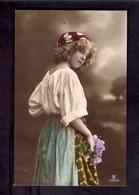 Beautiful Girl 1910s Postcard Grete Reinwald - Portraits