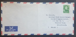 E11va - Iran Air Mail Cover - Commercial Letter From Khalij Group Sent To England Franked 1958/60 Mi. 1050 14R - Iran