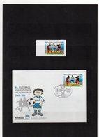Deutschland, Privatpost, Nordkurier, 2010, Marke (sk) Und FDC, 45. Fußball-Knaben-Turnier - Privé- & Lokale Post