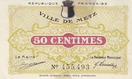 Ville De Metz 50 C Du 27 Décembre 1918 - Chambre De Commerce
