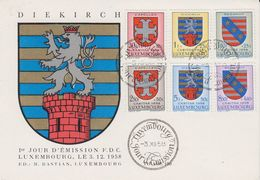 Luxemburg 1958 Arms FDC Card (41181) - FDC