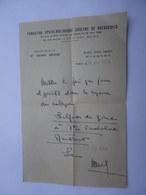 Ordonnance Fondation Ophtalmologique ROTHSCHILD à Paris 1954 - Docteur Henri Bégué - Unclassified