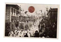 D0187 CARTOLINA FOTOGRAFICA PROCESSIONE RELIGIOSA FESTA MADONNA CONGREGAZIONE - Manifestazioni
