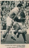 RUGBY : PHOTO, AFRIQUE DU SUD - FRANCE, LE TROISIEME LIGNE FRANCOIS MONCLA, COUPURE REVUE (1961) - Rugby