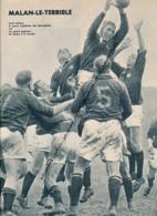 RUGBY : PHOTO, AFRIQUE DU SUD - FRANCE, AVRIL MALAN LE CAPITAINE DES SPRINGBOKS, COUPURE REVUE (1961) - Rugby