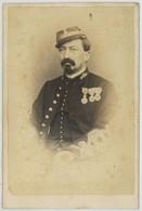 CDV Militaire 1860-70  Charles à Blida . Commandant Villemette . Zouave ? - Ancianas (antes De 1900)