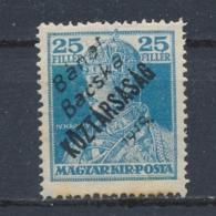 Hongarije/Hungary/Hongrie/Ungarn Bánát, Bácska 1919 Mi: 38 Yt: 30 (Ongebr/MH/Neuf Avec Ch/Ungebr/*)(3860) - Hongarije