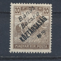 Hongarije/Hungary/Hongrie/Ungarn Bánát, Bácska 1919 Mi: 29 Yt: 29 (Ongebr/MH/Neuf Avec Ch/Ungebr/*)(3864) - Hongarije