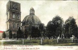 MONTAIGU-SCHERPENHEUVEL - L'Eglise, Vue De Côté - Oblitération De 1907 - Edit. : Smets-Nihoul, Montaigü - Scherpenheuvel-Zichem