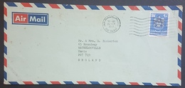 E11va - UAE Dubai 1977 Air Mail Cover Sent To England Franked 90f - United Arab Emirates