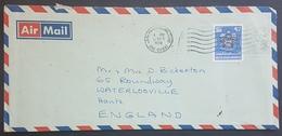 E11va - UAE Dubai 1978 Air Mail Cover Sent To England Franked 90f - United Arab Emirates