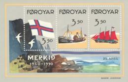 FOGLIETTO NUOVO 1990 ISOLE FAR OER (LX58 - Isole Faroer