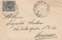 LETTERA 1921 CENT.15 TIMBRO SIENA (LX75 - Storia Postale
