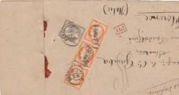 LETTERA 1876 DA FRANCIA PER ITALIA (LX111 - Marcophilia
