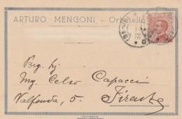 CARTOLINA 1925 CENT. 30 -ARTURO MENGONI ORBETELLO (LX136 - 1900-44 Vittorio Emanuele III