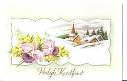 VROLIJK KERSTFEEST -timbrée -neederland -pays-bas HOLLANDE - Weihnachten