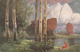 CARTOLINA VIAGGIATA 1913 ILLUSTRATORE NON FIRMATA (LX181 - 1900-1949
