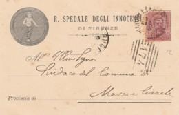 CARTOLINA FINE 800 CENT.10 R.SPEDALE DEGLI INNOCENTI (LX185 - 1878-00 Humbert I.