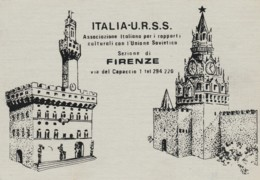 CARTOLINA NON VIAGGIATA ITALIA URSS ASSOCIAZIONE CULTURALE (LX243 - Storia