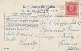CARTOLINA 1935 CUBA HABANA PIEGA CENTRALE (LX367 - Cuba