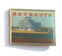 Pin's BEYROUTH (Liban) - Hôtel SAINT GEORGES - Vue De L'hôtel - H496 - Città