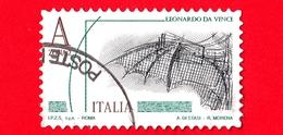 ITALIA - Usato - 2015 - Leonardesca - A Zona 2 - Ala Meccanica - Leonardo Da Vinci - Val. Iniz. € 4.50 - 2011-...: Usati