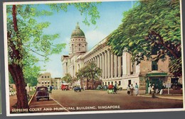 Singapore/ Singapour  : Supreme Court And Municipal Building  ( C1955)  (PPP15705) - Singapore