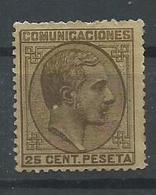 ESPAÑA EDIFIL  194a  MH  * - 1875-1882 Reino: Alfonso XII