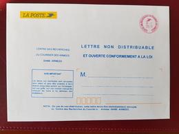 Oblitération Centre Des Recherches Du Courrier Des Armées En Rouge Enveloppe De Service Poste Aux Armées  Interarmées - Autres