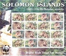 (WWF-302) W.W.F Solomon Islands Grey Cuscus MNH Perf Sheetlet 2002 - W.W.F.