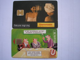 FRANCE - 2 Télécartes RARES - Pages Jaunes ( HAMMAM 25u Du 03/98 ) à 4600 Ex. Et Unilog 50u Du 10/94 à 6000 Ex. - Privées