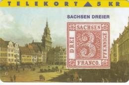 Denmark, TP 020, 5kr,  Rare Stamps - Sachsen Dreier ,Only 3000 Issued, 2 Scans. - Denmark