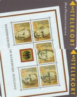 Denmark, TP 035- 36, 2x5kr,  Puzzle, Stamp On Cards, German Presidents, Mint . - Denmark