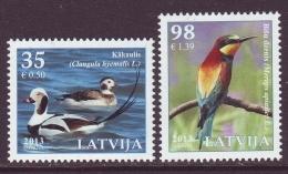 Latvia 2013. Vögel.  2 W.Pf. MNH - Latvia