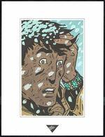 """Visage Extrait De """"HALONA"""", De BERTHET, Issu Du Porte-folio Collection """"Aire Libre"""", 1993 (Voir Scan 2). - Affiches & Offsets"""