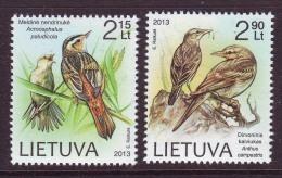 Litauen 2013. Vögel. 2 W. MNH. - Lithuania