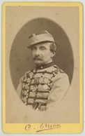 CDV Militaire 1878 . Le Colonel Charles Pesme , 4e Régiment De Chasseurs . Auparavant 1er Chasseurs D'Afrique . - Ancianas (antes De 1900)