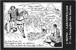 Illustrateur Bernard Veyri Caricature L'homo Cartophilius Conquete Des Gaules - Veyri, Bernard