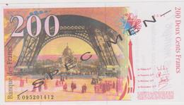 769 - BILLET FACTICE 200 FRANCS . VOTEZ LE PEN . LE PEN MAINTENANT. SCANS RECTO VERSO - Fictifs & Spécimens