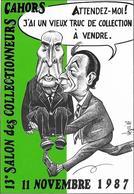 Illustrateur Bernard Veyri Caricature Mitterand Rocard - Veyri, Bernard