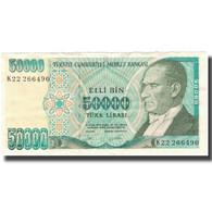 Billet, Turquie, 50,000 Lira, Undated (1995), KM:204, TTB - Turquie