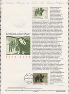 1ER JOUR  FEUILLET DOCUMENT PHILATELIQUE 98 522 MARCEL DUCHAMP - Documents De La Poste