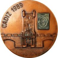 Espagne, Médaille, Aviation Et Espace, Cadix, 1989, Pujol, SUP+, Bronze - Spanje