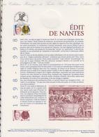 1ER JOUR  FEUILLET DOCUMENT PHILATELIQUE 98 525 EDIT DE NANTES - Documents Of Postal Services