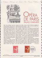1ER JOUR  FEUILLET DOCUMENT PHILATELIQUE 98 532 OPERA DE PARIS PALAIS GARNIER - Documents Of Postal Services