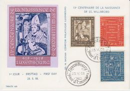 Luxemburg 1958 St. Willibrord 3v FDC Card (41183) - FDC
